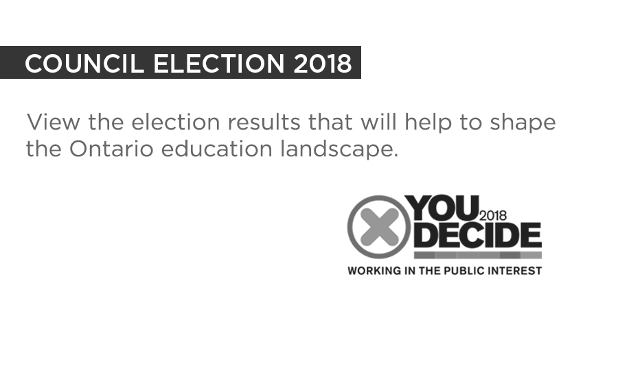 View the election results that will help to shape the Ontario education landscape.