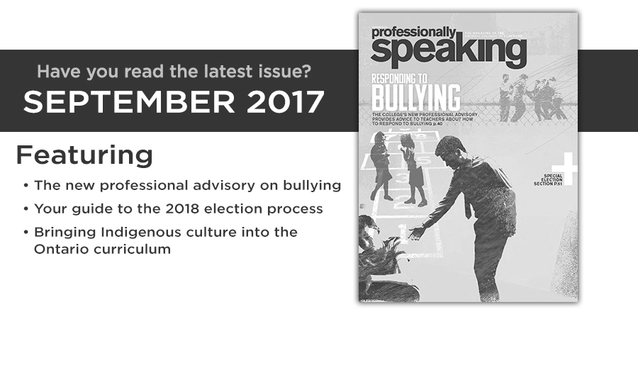 Professionally Speaking September 2017