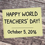 College Celebrates World Teachers' Day