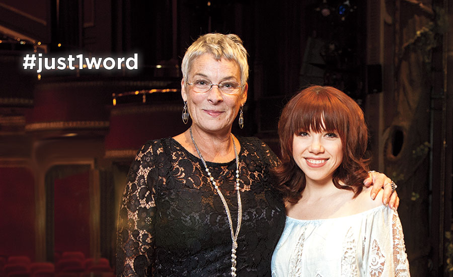 Carly Rae Jepsen with her teacher