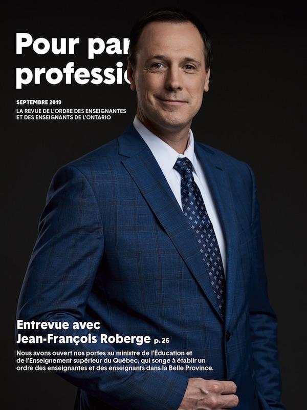 Pour parler profession, mars 2019. En couverture : un cerveau humain sur un fond de rayons lumineux.